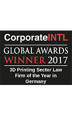 3D Printing Sector - Law Firm of the Year in Germany